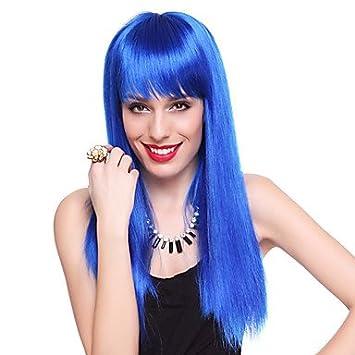 TY club de la reina azul recta larga fiesta de halloween peluca los 55cm de las