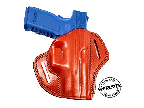 Sig Sauer SP2022 Right Hand Open Top Leather Belt Holster (Open Top Sig)