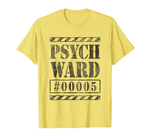 Escaped Convict Inmate Psych Ward Halloween Costume Shirt #5 -