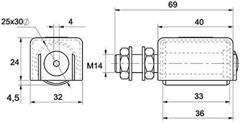 Liderazgo 25 X 30 con protección para los dedos, guía, Puerta corredera, de puertas enrollables: Amazon.es: Bricolaje y herramientas
