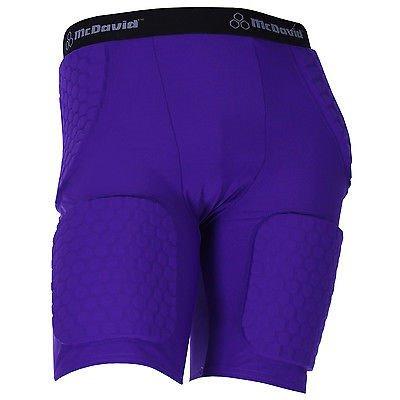 McDavid Mens Thudd Football Compression Shorts 757T Purple X