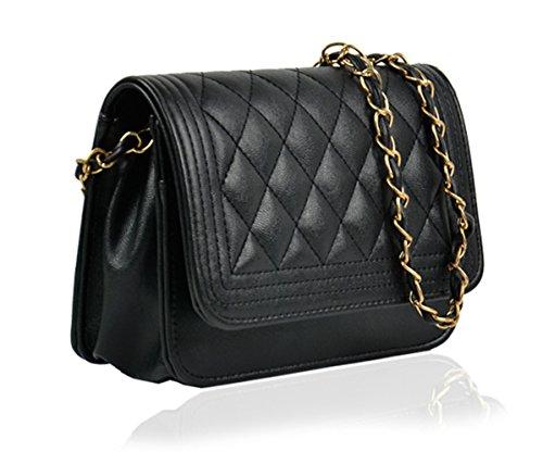 Bolso - All4you cuero Crossbody bolsa pañal bandolera en dulces Color(White) Negro