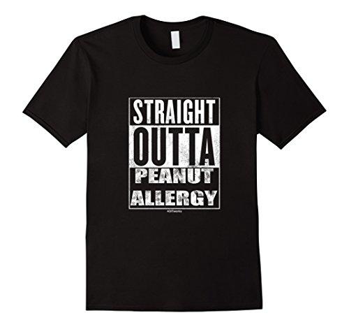 Mens Straight Outta Peanut Allergy Large ()