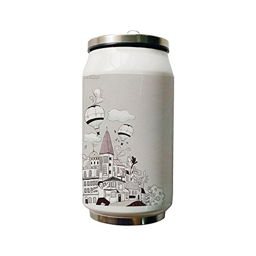The Castle of the Hot Air Balloons Double Layer Vacuum-Insulated Stainless Steel Water Bottle, 280 ml