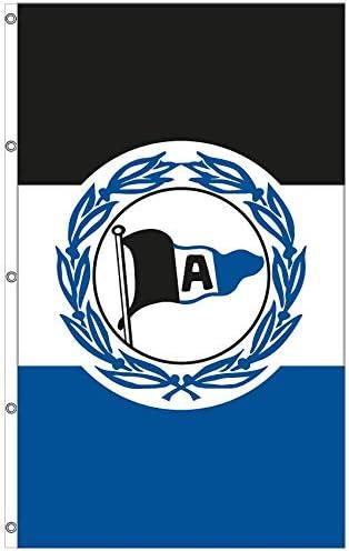 100 x 150 cm Hissflagge Fahne Arminia Bielefeld Wappen Flagge