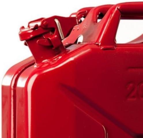 Jerrican Jerrycan carburant bo/îtes de 20 litres en m/étal 20 L Rouge