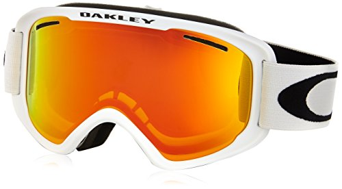 Oakley OO7066-21 O2 XM Eyewear, Matte White, Fire Iridium - Goggles Ski Kids Oakley