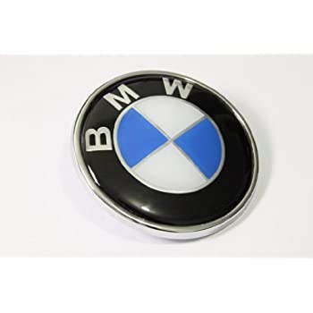 Amazon Com Bmw Blue White 82mm 3 23 Inch Hood Front
