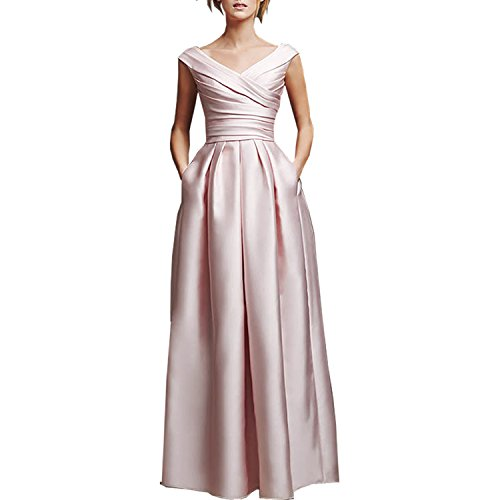 Buy light pink mother of the bride dresses - 5