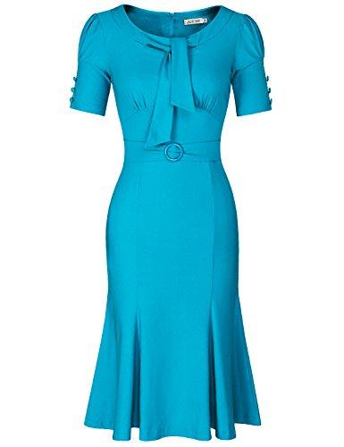 dcdf6e6a8a44 MUXXN Women's 50s Short Sleeve Casual Pencil Dress (B00PMUFSPA) | Amazon  price tracker / tracking, Amazon price history charts, Amazon price  watches, ...
