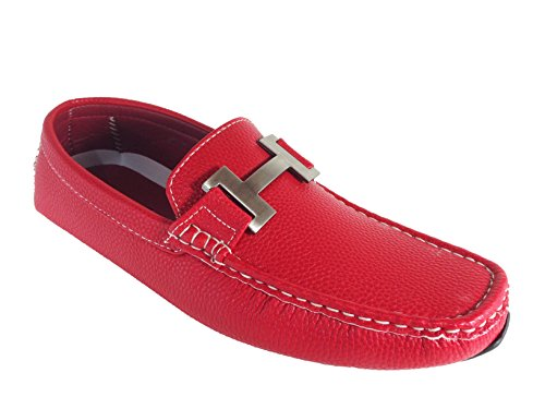Moccasins Payne03 Loafer Red Weight Enzo Driving Light Romeo Slip Casual Shoes On Mens aCqRxS