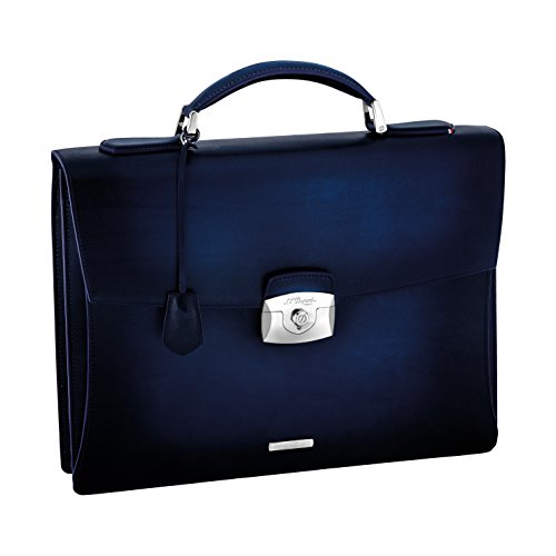 S.T. Dupont 191210 Line D Atelier One Gusset Blue Briefcase by S.T. Dupont