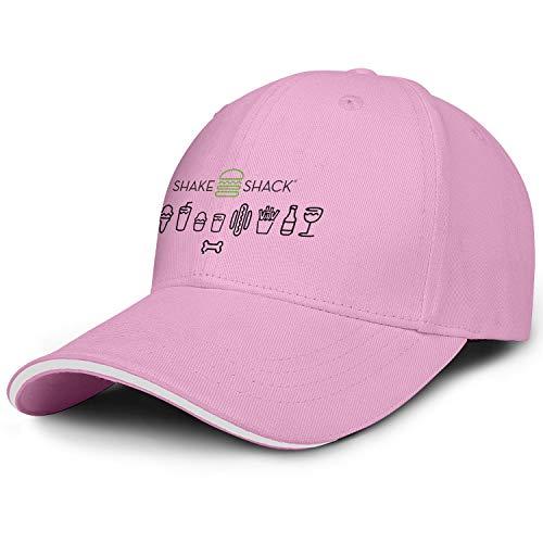 Shake Shack Mens Women Snapback Visor Cap Stylish Caps Curved Hats