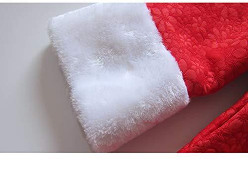C Red Veste Longues Acvip Rouge Manches Damassée Manteau Fille qw0C86