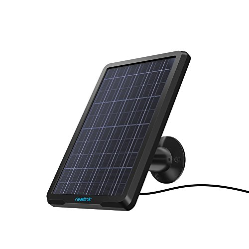 Reolink Solar Panel Power Supply for Wireless Outdoor Rechargeable Battery Powered IP Security Camera Reolink Go/Argus Eco/Argus 2/Argus ()
