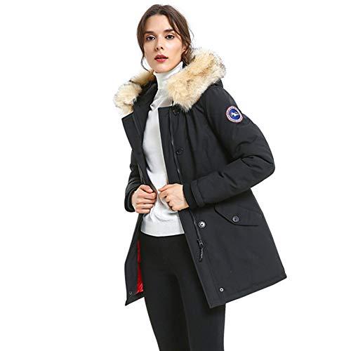 ka, Women's Mountain Windproof Ski Jacket Winter Snowy Coat Heavy Weight Warm Down Alternative Insulated Parkas Ladies,Black,Small ()