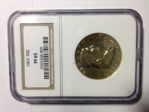 Ngc Slabbed - 1963 US Franklin Half Dollar PF65 Slabbed and Certified by NGC