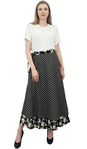Porter rversible Indien Noir Coton imprim Portefeuille Jupe Up Phagun Cover Floral qRE6PRw