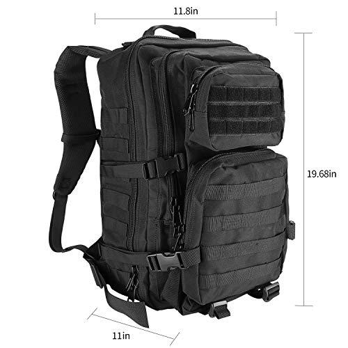ProCase Sac à Dos Style Militaire, 40L Grand Volume Sac à Dos Multifonction, pour École Trekking Randonnée Camping… 3