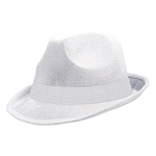 (Amscan Velour Fedora, Party Accessory, White)