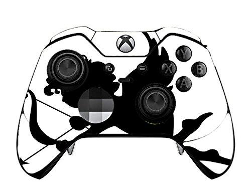 White Arrow Skin - Silhouette Cupid Arrow Cherub Black White Printed Design Xbox One Elite Controller Vinyl Decal Sticker Skin by Smarter Designs