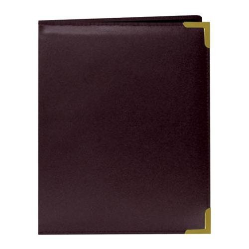 Pioneer Wallet Oxford Bound Photo Album, Solid Color Sewn Leatherette Covers wivh Brass Accent Corners, Holds 24 2.5x3.5