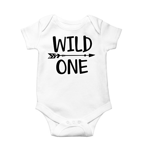 Wild One Baby Boys 1st Birthday Outfit Smash Cake First Bodysuit For