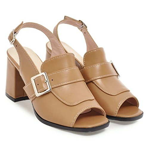 Moda Mujer Coolcept Sandalias apricot Slingback Zapatos gFUqxUw7