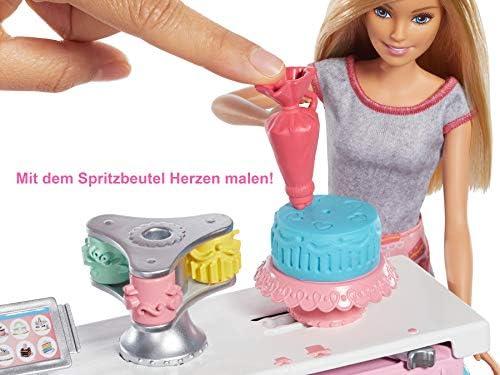 Barbie GFP59 - Backspaß Torten Bäckerei und Puppe Spielset, Kreativ Spielzeug ab 4 Jahren