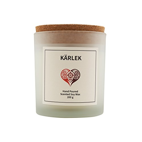Vana Candles Classic Collection Kärlek Scented 100% Soy Wax Candle in Glass Jar Swedish Design - 7.05 oz, Citrus Grapefruit