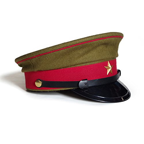 ZWJPW-Japan Army Officer Hat-WWII WW2 Japanese Military Cap with Badge