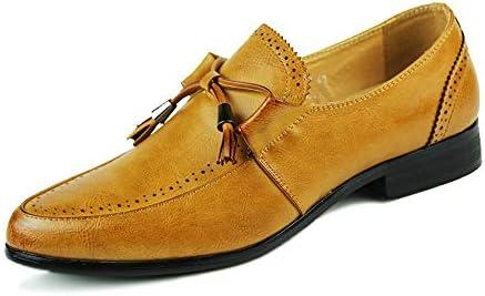 靴メンズファッションオックスフォードカジュアル快適なロートップクラシックフリンジスリップオンフォーマルシューズ