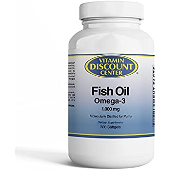 Vitamin Discount Center Omega-3 Fish Oil, 300 Softgels