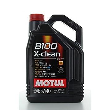 Motul - Aceite Motor 8100 x-Clean c3 5 w40 - Barril de 60 l: Amazon.es: Coche y moto