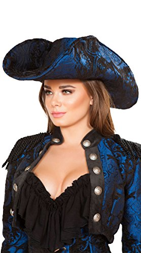 Roma Costume Captain of The Night Hat, Blue/Black, One Size -