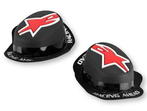 Alpinestars GP Rain Adult Knee Sliders Off-Road Motorcycle Body Armor - Black/Red / One Size Fits Most (Stars Off Road Goggles)