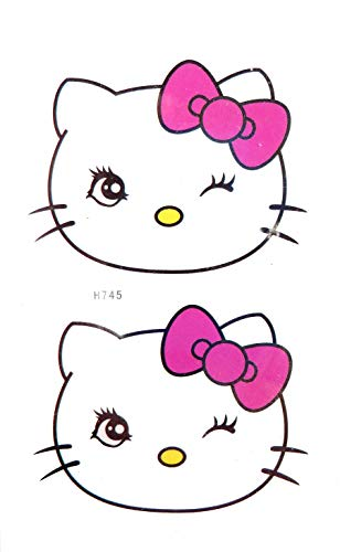 Hello kitty temporary tattoo summer tribal lower back hand chest -