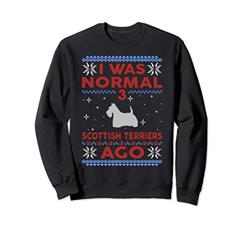 Scottish Terrier Ugly Christmas Sweater Pullover Jumper
