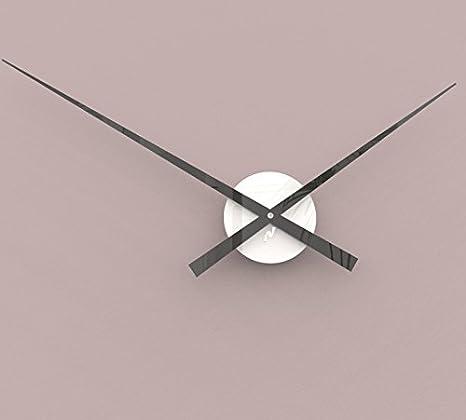 Reloj de pared moderno 70cm. Centro Blanco y manecillas negro. CM132B-MND70N: Amazon.es: Hogar