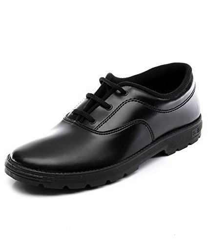 59362470a620 Hitway Boys  Black Faux Leather School Shoes (hwboys10)-10 UK  Buy ...