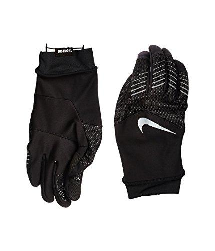 - Nike Storm-Fit Hybrid Run Gloves Black/Silver Athletic Sports MEDIUM
