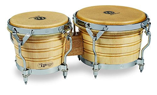 Latin Percussion LP201A-3 Bongo Drum, Natural/Chrome by Latin Percussion