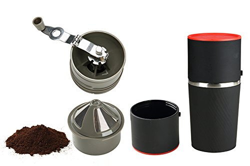 Sale!! Coffee's Grind Travel Coffee Maker with Mug All In One Manual Coffee Grinder and Portable Cof...