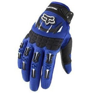 Fox Racing Dirtpaw Men's Off-Road/Dirt Bike Motorcycle Gloves - Color: blue, Size: Medium ()