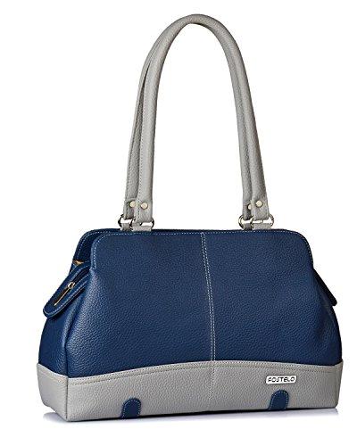 Fostelo Women's Helena Handbag (Blue) (FSB-1146)