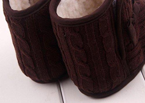 Tefamore Zapatos bebe de sole suave de moda invierno de calentar para ninos Marrón