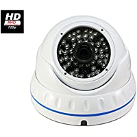 Evertech Hybrid Camera as AHD - TVI - CVI and Analog 1.0MP CMOS Sensor 720P Vandal Proof 48IR LED 3.6mm Wide Angle Lens White Dome Camera with OSD Button for Security Surveillance Systems