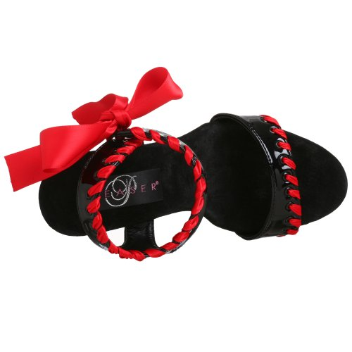 Pleaser DELIGHT-615 Blk-Red/Blk
