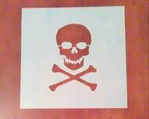 8 Inch Skull and Crossbones Stencil ()