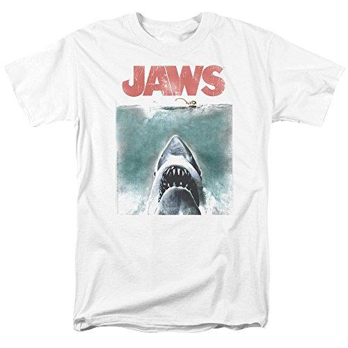Jaws Vintage Poster Short Sleeve Mens Shirt